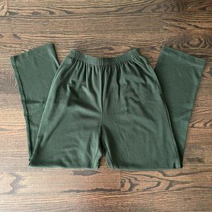Dark Green Comfy Pants with Pockets